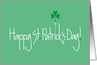 Business St. Patrick's Card with Shamrock Balloon card