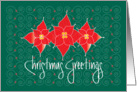 Christmas Greetings with Poinsettia Trio and Handlettering card