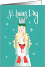 St. Lucia's Day, Halo of Lighted Candles card