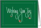 Wishing You Joy Christmas, Handlettering and Poinsettias card