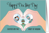 Doctors' Day, Celebrating Gift of Healing with Stethoscope card