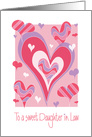 Valentine's Day for Daughter in Law, with Vibrant & Colorful Hearts card
