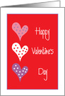 Valentine's Day for Son in Law, with Trio of Hearts card
