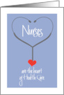Nurses are the heart of Health Card - Nurses Day Card