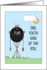 King of the grill Father's Day Card