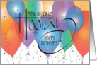 Business Birthday From All of Us with Small Colorful Balloon card