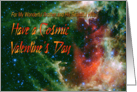 For Brother and Wife Cosmic Valentines Day card