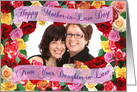 Happy Mother-in-Law Day From Your Daughter-in-Law Roses Photo Card