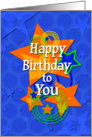 Happy Birthday to You Awesome Boy Stars card
