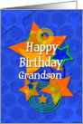 Happy Birthday Grandson Awesome Boy Stars card