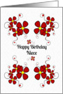Happy Birthday Niece Colorful Daisy Chain card