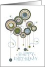 Happy Birthday Circles and Swirls card
