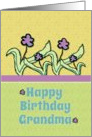 Happy Birthday Grandma Cheerful Flowers card
