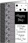 Happy Birthday Polka Dots and Patterns card