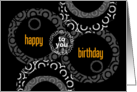 Happy Birthday to You Circles card
