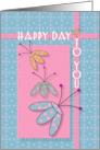 Happy Birthday Happy Day to You Fun Patterned Flowers card