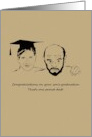 Congratulations for father of graduate, one proud dad and son card