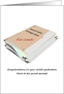 Congratulations for parents of graduate, school and college bills card