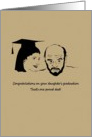 Congratulations for dad on daughter's graduation, father and daughter card