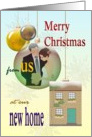 Christmas greetings from newlyweds in new home card