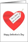 Valentine's Day for son in law, great big red heart card