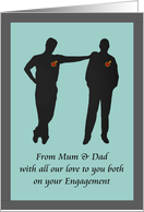 From parents to son on his engagement, The couple together card