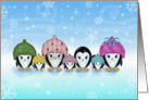 Christmas Card - Cute Penguin Family card