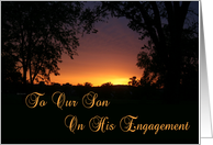 Son Engagement Sunset card