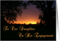 Daughter Engagement Sunset card