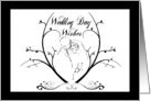 Congratulations, Wedding Day Wishes, Bride & Groom in Black & White card