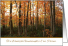 Thanksgiving to Granddaughter and her Partner - Autumn Forest card