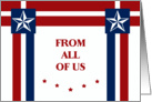 Happy Memorial Day From All of Us - Stars and Stripes card