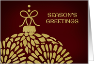 Season's Greetings - Gold Ornament card