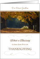 Thanksgiving Birthday for Godson ~ What a Blessing Autumn Path card