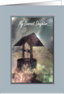 My Dearest Daughter - Thinking of you - Estranged - Wishing Well card