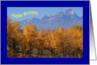 Autumn in Grand Tetons-Happy Birthday card