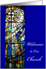 Welcome to our Church stain glass Card