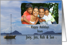 Happy Holiday Photo sailing card