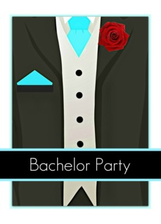 Bachelor Party Invite, elegant collection, tuxedo! Greeting Card