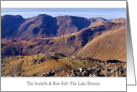 The Lake District - The Scafells and Bow Fell - Blank card