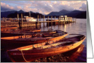The Lake District - Rowing boats at Derwentwater, Keswick - Blank card