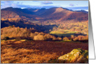 Autumn colours, Loughrigg Fell, The Lake District - Blank card