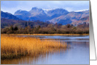 Elterwater and The Langdales, The Lake District - Blank card