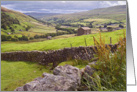 Swaledale, near Thwaite, valley view, The Yorkshire Dales - Blank card