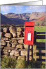 Rural post box, The Lake District, Cumbria - Blank card