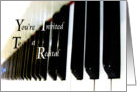 Music Recital Invitation card