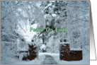 Christmas, Peace on Earth, Snowy Scene card