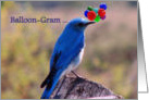 Blue Bird Birthday Balloon-Gram card