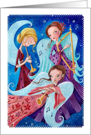 Merry Christmas - Angels music card
