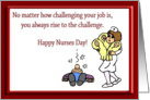 Funny Happy Nurses Day For Pediatric Nurse card